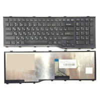 Клавиатура для ноутбука Fujitsu Lifebook AH532, RU, рамка, черная